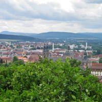 Fulda - Stadtpanorama. Blick Richtung Dom, Фульда