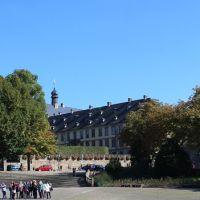 Blick vom Domplatz zum Stadtschloss Fulda - KE, Фульда