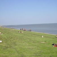 Blick nach Nordost über den Deich von Wilhelmshaven, Вильгельмсхавен