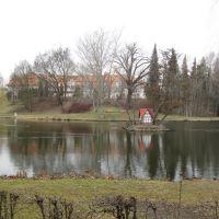 Stadtgraben in Wolfenbüttel mit Enteninsel, Волфенбуттель