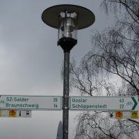 Wegweiser verschiedener Radwege in Wolfenbüttel, Волфенбуттель