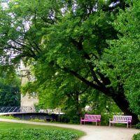 #25 Schloss Wolfsburg rózsaszín padjai - Németország, Вольфсбург