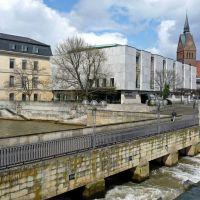 An der Wasserkunst mit Blick auf Leineschloss, (Nds. Landtag) und Marktkirche Hannover, Ганновер