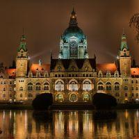 Rathaus Hannover bei Nacht, Ганновер