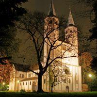 Neuwerkkirche at night, Гослар