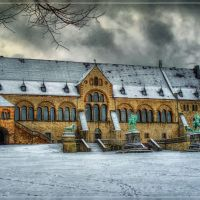 Kaiserpfalz Goslar, built 1040 - 1050, UNESCO-Weltkulturerbe, Гослар