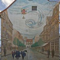 "DELMENHORST: ""Bahnhofstraße"", Wandbild / Wall painting • 2009, Дельменхорст"