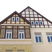 Delmenhorst, Lange Straße, Fachwerkgiebel, Дельменхорст