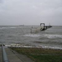 Cuxhaven-Grimmershörn, Sturmflut 01-03-08, Куксхавен