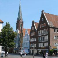Lüneburg Markt Blick zur Nicolaikirche, Лунебург