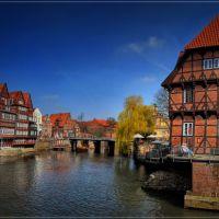 Lüneburg Am Stint, Wasserviertel an der Ilmenau, Лунебург