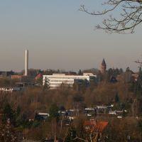 Lüneburg - Blick vom Kalkberg zum Landeskrankenhaus -, Лунебург