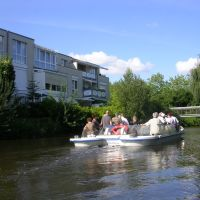 Nordhorn - Fahrt mit dem Vechtestromer durch die Innenstadt, Нордхорн