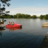 Nordhorn - Tretbootfahren auf dem Vechtesee (Waterfietsen op de Vechtesee), Нордхорн
