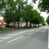 Vereinsamter Stadtring mit Blick auf Schwimmbad, Нордхорн