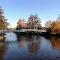 Nordhorn - Vechtebrücke und angrenzend der Vechtesee, Нордхорн