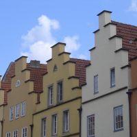 Giebelhäuser am Marktplatz in Osnabrück, Оснабрюк
