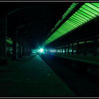 illuminierter alter Güterbahnhof, Оснабрюк