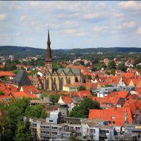 Osnabrück: Aussicht St. Katharinenturm richtung St. Marien Kirche, Оснабрюк