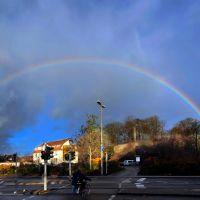 Bad Kreuznach. Und ®mene geht zum Regenbogen...  ;) Vertikalpanorama über ~75°, Бад-Крейцнах