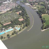 Luftbild-Rhein-Main-Zusammenfluss, Майнц