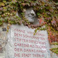 Trier - Denkmal des Stifters Franz Weissebach, Трир