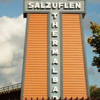 Das * Wahrzeichen * für  Bad Salzuflen   als  > Thermalbad  <  im Kurzentrum  von Bad Salzuflen, Бад-Зальцуфлен
