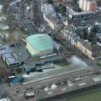 Beethovenhalle aus helicopter, Бонн