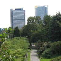 Bonn, Langer Eugen,Posttower, Park Palais Schaumburg, Бонн