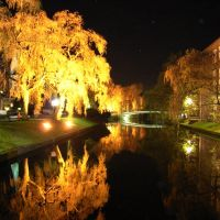 Bocholter Aa bei Nacht, Бохольт