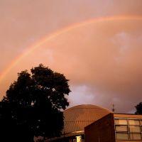 Abendlicher Regenbogen über dem Planetarium Bochum - Evening Rainbow over Planetarium of Bochum, Бохум