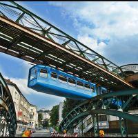 Schwebebahn an der Werther Brücke - Monorail constructions - Wuppertal - Germany - [By Stathis Chionidis], Вупперталь