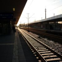 Abendstimmung am Gleis 6 (Gelsenkirchen Hauptbahnhof) / 7.03.2010, Гельзенкирхен
