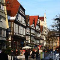 Historische Fussgängerzone in der Detmolder Altstadt, Детмольд