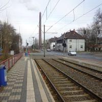 "Straßenbahnhaltestelle ""Mannesmann Tor 1"" (Duisburg-Hüttenheim) / 28.01.2012, Дойсбург"
