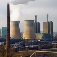 Das Gaskraftwerk Huckingen von der Landmarke aus (Duisburg-Wanheim-Angerhausen) / 28.01.2012, Дойсбург