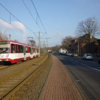 An der Straßenbahntrasse neben der Ehinger Str. (Duisburg-Hüttenheim) / 28.01.2012, Дойсбург