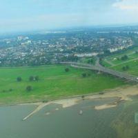 GER Duesseldorf [Rhein] from Rheinturm Panorama by KWOT, Дюссельдорф