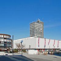 Solingen City mit Turmhotel und Kaufhaus, Золинген