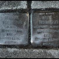 Hermann Friedberger, geboren: 15. Juni 1880 in Solingen, gestorben: 6. Mai 1942 im Vernichtungslager Chelmno - Helene Friedberger, geboren: 1. April 1883 in Goch, gestorben: 6. Mai 1942 im Vernichtungslager Chelmno - (Gerd Adolf Friedberger, geboren: 14. , Золинген