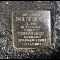 """Paul de Groote, geb. 1907, im Widerstand verhaftet, """"Vorbereitung zum Hochverrat"""" Starafbataillon 999, Tot 22.01.1945, Золинген"""