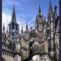 Der Kölner Dom, das Wahrzeichen der Stadt., Кёльн