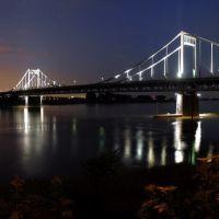 Rheinbrücke Krefeld-Uerdingen bei Nacht, Крефельд