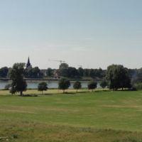 Panoramablick über die Rheinauen, Крефельд