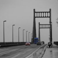 Krefelder Straße - Rheinbrücke - Blickrichtung Uerdingen, Крефельд