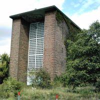 Leverkusen - ehemalige St. Maria Friedes Königin Kirche am alten Bahnhof Wiesdorf, Леверкузен