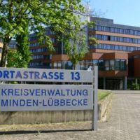 """MINDEN:   .... die Verwaltung des Großkreises """"Minden-Lübbecke"""" ..., Минден"""