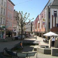 """MINDEN  -  Bäckerstraße mit dem (ehemaligen)  """"KARSTADT/Herthie""""-Kaufhaus, Минден"""