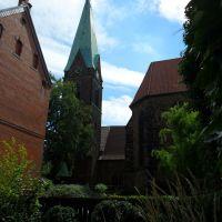 IGLESIA SAN SIMEÓN (1214) - vista Koenigstrasse - barrio antiguo - Minden - Westfalia - Alemania, Минден
