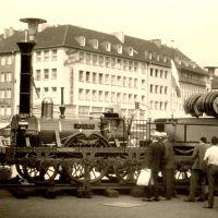 Ausstellung der ersten Dampflokomotive am Hauptbahnhof 1964, Монхенгладбах